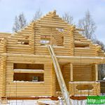 зимнее строительство деревянного дома - советы