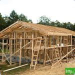 Строительство каркасного дома.